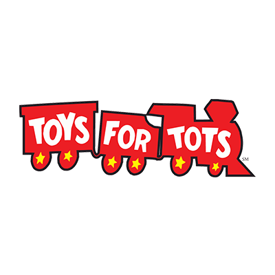 Toys for Tots logo - Our Orlando dentist care about local kids.