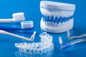 Dental equipment on a table